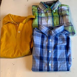 Boys size 8/10 polo and button down shirt sleeve